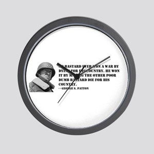 Patton Quote - Die Wall Clock