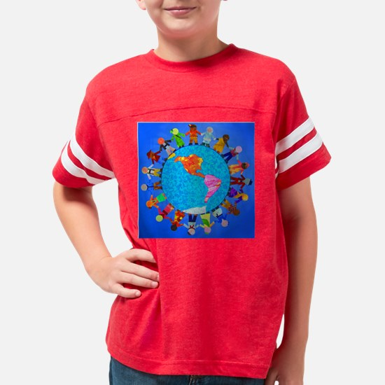 ChildrenAroundWorldCLOCK3 Youth Football Shirt