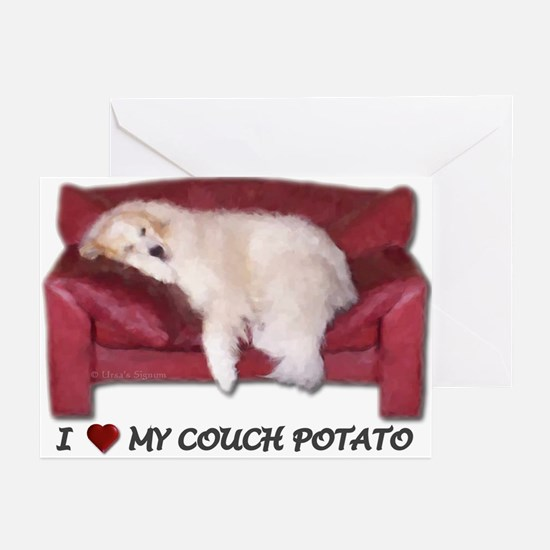 I Love my Couch Potato Greeting Cards (6)