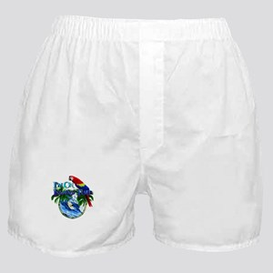 Island Time Parrot Boxer Shorts