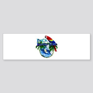 Island Time Parrot Bumper Sticker