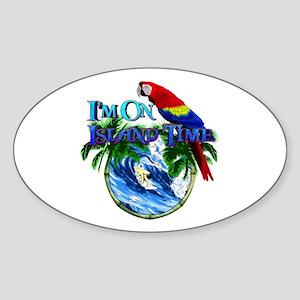 Island Time Parrot Sticker