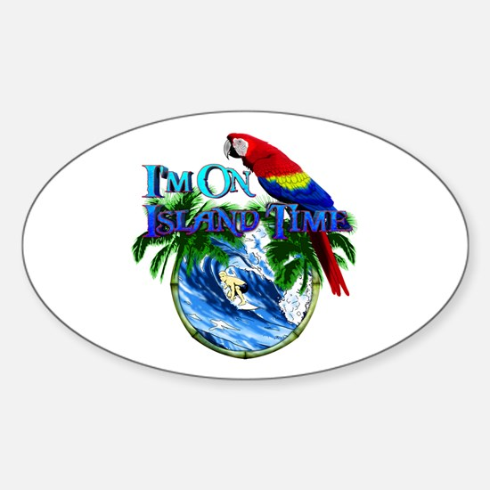 Island Time Parrot Decal