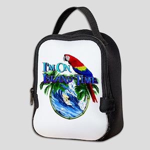 Island Time Parrot Neoprene Lunch Bag