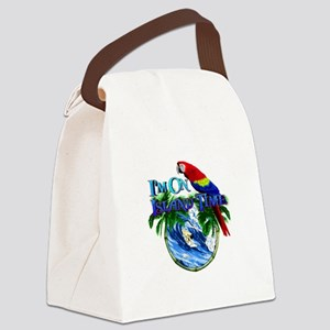 Island Time Parrot Canvas Lunch Bag