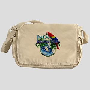 Island Time Parrot Messenger Bag