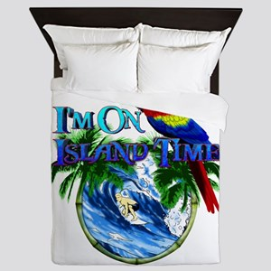 Island Time Parrot Queen Duvet