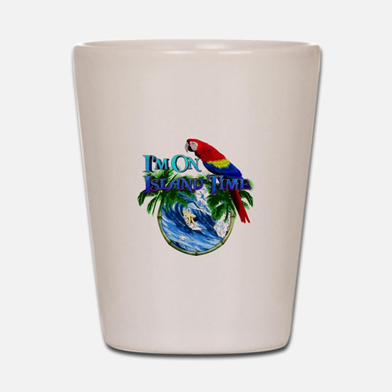 Island Time Parrot Shot Glass