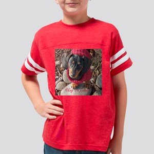 Hiking Passion Dacshund Dogs Youth Football Shirt