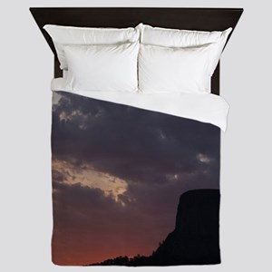 Towering Sunset Queen Duvet