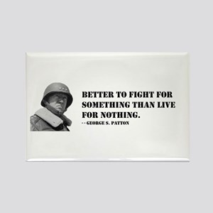 Patton Quote - Die Rectangle Magnet