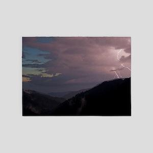 Smoky Mountain Lightning 5'x7'Area Rug