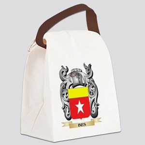 Ines Coat of Arms - Family Crest Canvas Lunch Bag