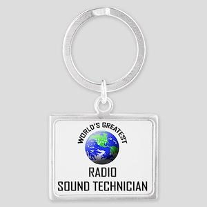 RADIO-SOUND-TECHNICI132 Landscape Keychain