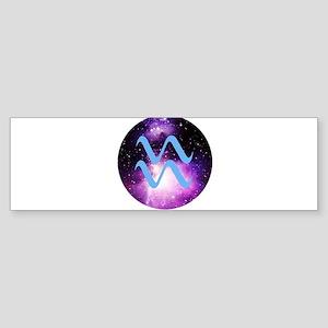 Aquarius Symbol Bumper Sticker