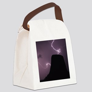 Spacetime Lights Up Canvas Lunch Bag