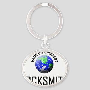 LOCKSMITH129 Oval Keychain