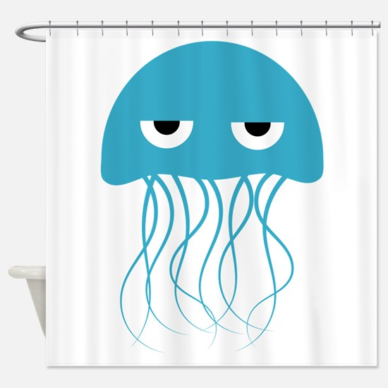 Light Blue Jellyfish Shower Curtain