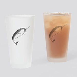 Narwhal Sketch Drinking Glass