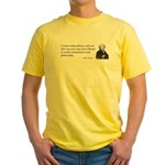 John Adams Quotes - Study War Yellow T-Shirt