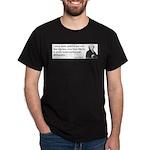 John Adams Quotes - Study War Dark T-Shirt