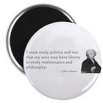 John Adams Quotes - Study War Magnet