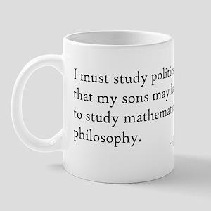 John Adams Quotes - Study War Mug