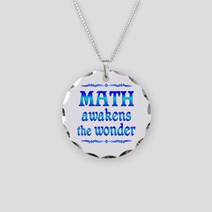 Math Awakens Necklace Circle Charm