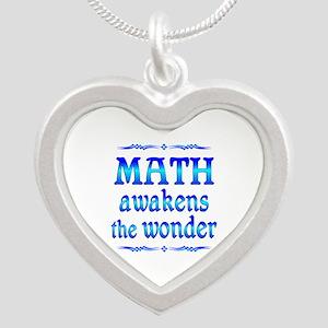 Math Awakens Silver Heart Necklace