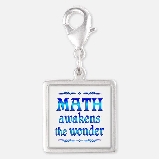 Math Awakens Silver Square Charm
