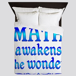 Math Awakens Queen Duvet