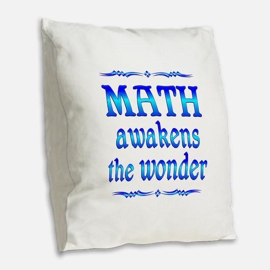 Math Awakens Burlap Throw Pillow