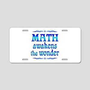 Math Awakens Aluminum License Plate