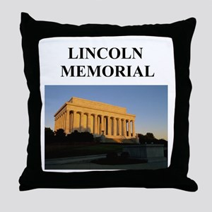lincoln memorial washington g Throw Pillow
