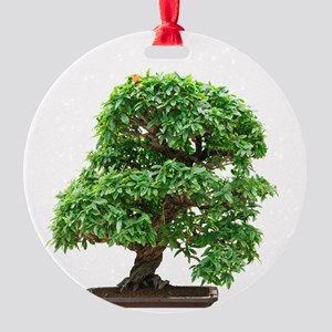 Punica Granatum bonsai Round Ornament