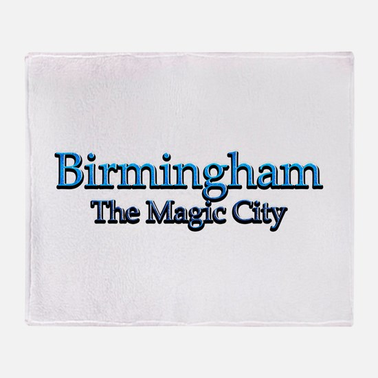 Birmingham, The Magic City 2 Throw Blanket