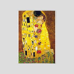 The Kiss, Klimt, Vintage Painting 5'x7'Area Rug