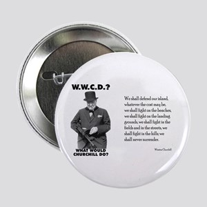 What Would Churchill Do - Never Surrender Button