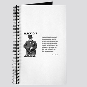 What Would Churchill Do - Never Surrender Journal