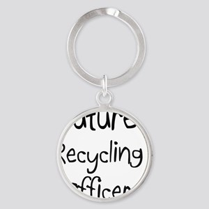 Recycling-Officer56 Round Keychain