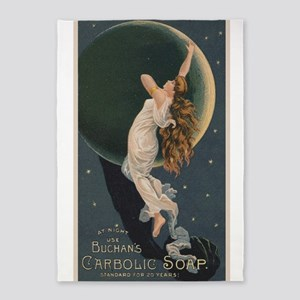Carbolic Soap, Woman, Moon, Vintage Poster 5'x7'Ar