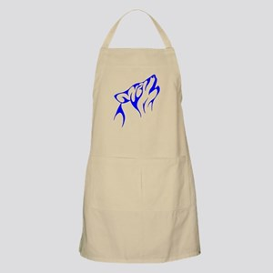 Blue Howling Coyote Apron
