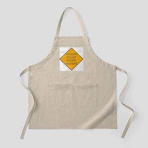 Caution Italian Eating Machine BBQ Apron