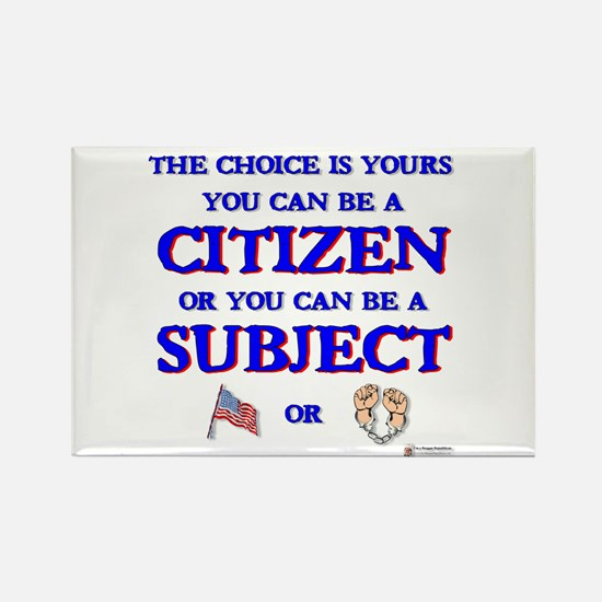 Citizen or Subject Rectangle Magnet