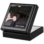 dog tired Keepsake Box