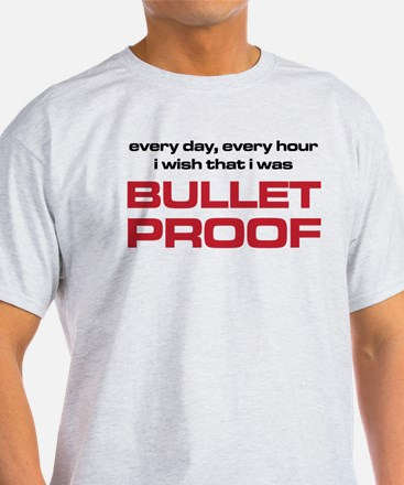The Bends Bullet proof black and red T-Shirt