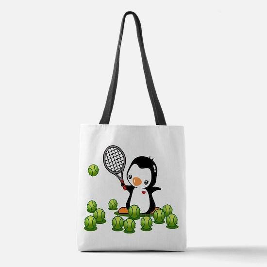 Tennis Penguin (4) Polyester Tote Bag