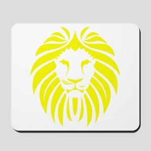 Yellow Lion Mane Mousepad