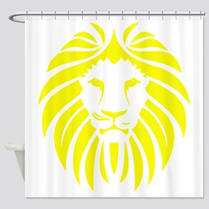 Yellow Lion Mane Shower Curtain