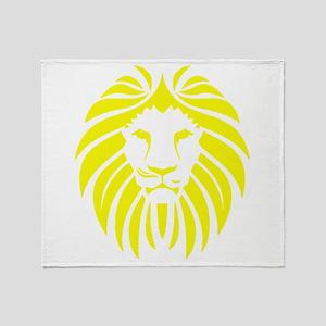 Yellow Lion Mane Throw Blanket